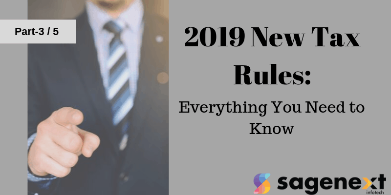 New tax rules for 2019