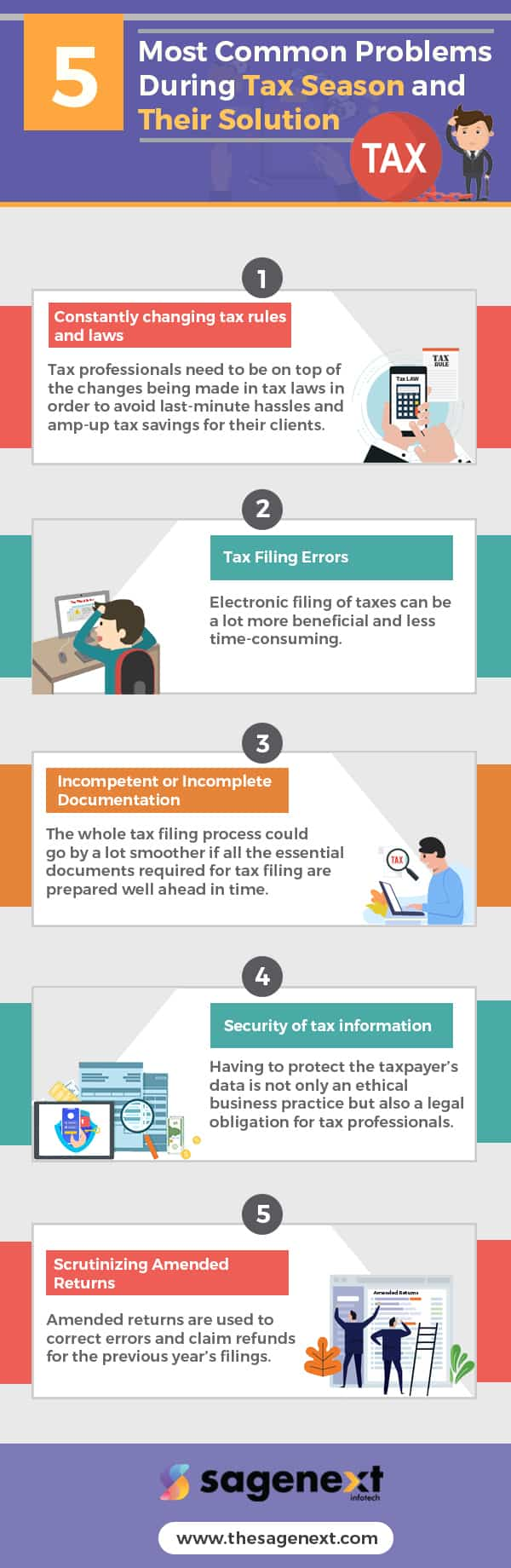 5 Most Common Problems During Tax Season And Their Solutions